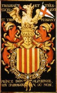 Escudo Alfonso V El Magnanimo