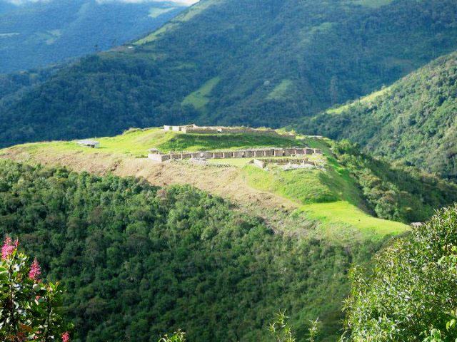 Peru Vilcabamaba foto fortaleza