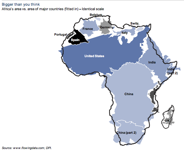 Africa Bigger than you think