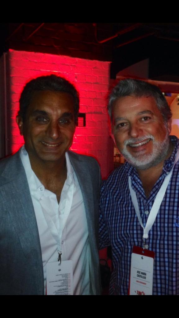 Con Bassem Youssef
