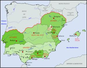 Reinos Taifas a mediados del Siglo XI